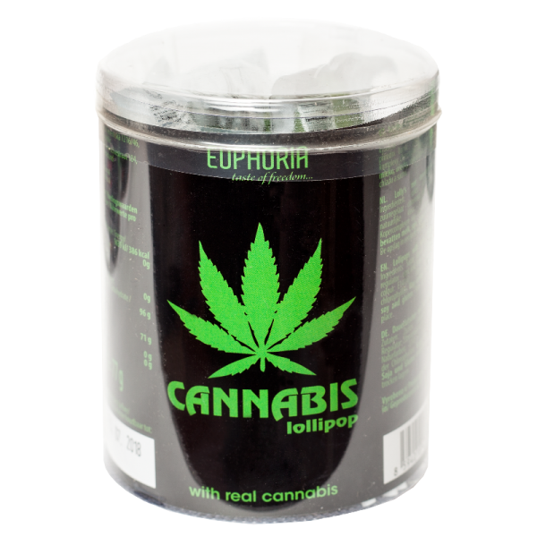 Cannabis Flat Lollipops Tube