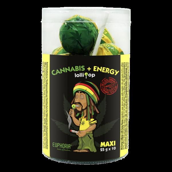 Cannabis Energy Maxi Lollipops Tube