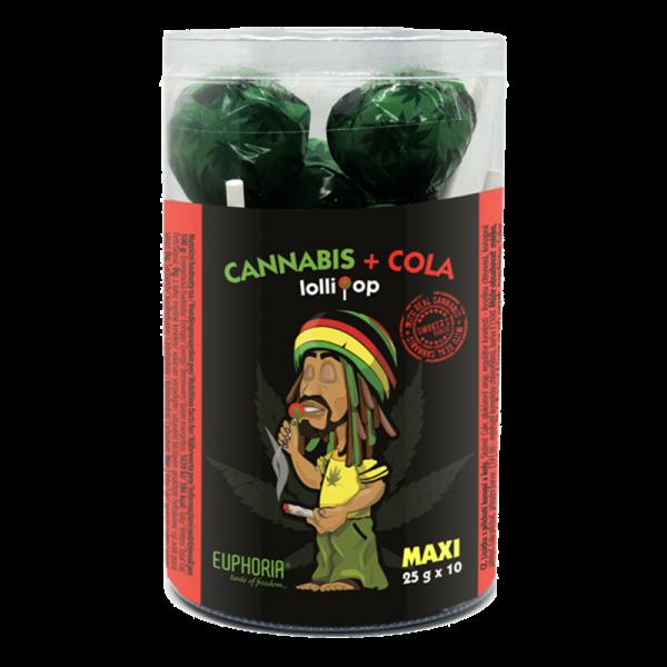 Cannabis Cola Maxi Lollipops Tube