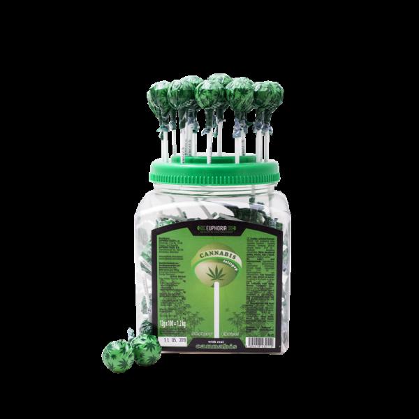 Cannabis Lollipops Jar