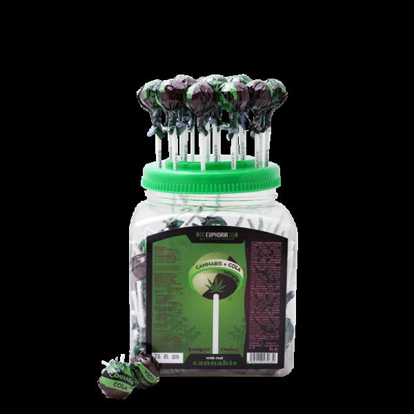 Cannabis Cola Lollipops Jar