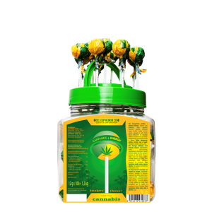 Cannabis Energy Lollipops Jar