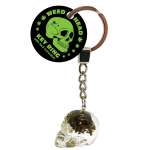 Weed Head Key Ring With Cannabis